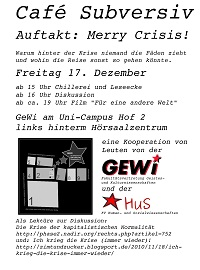 Flyer fürs Cafe Subversiv