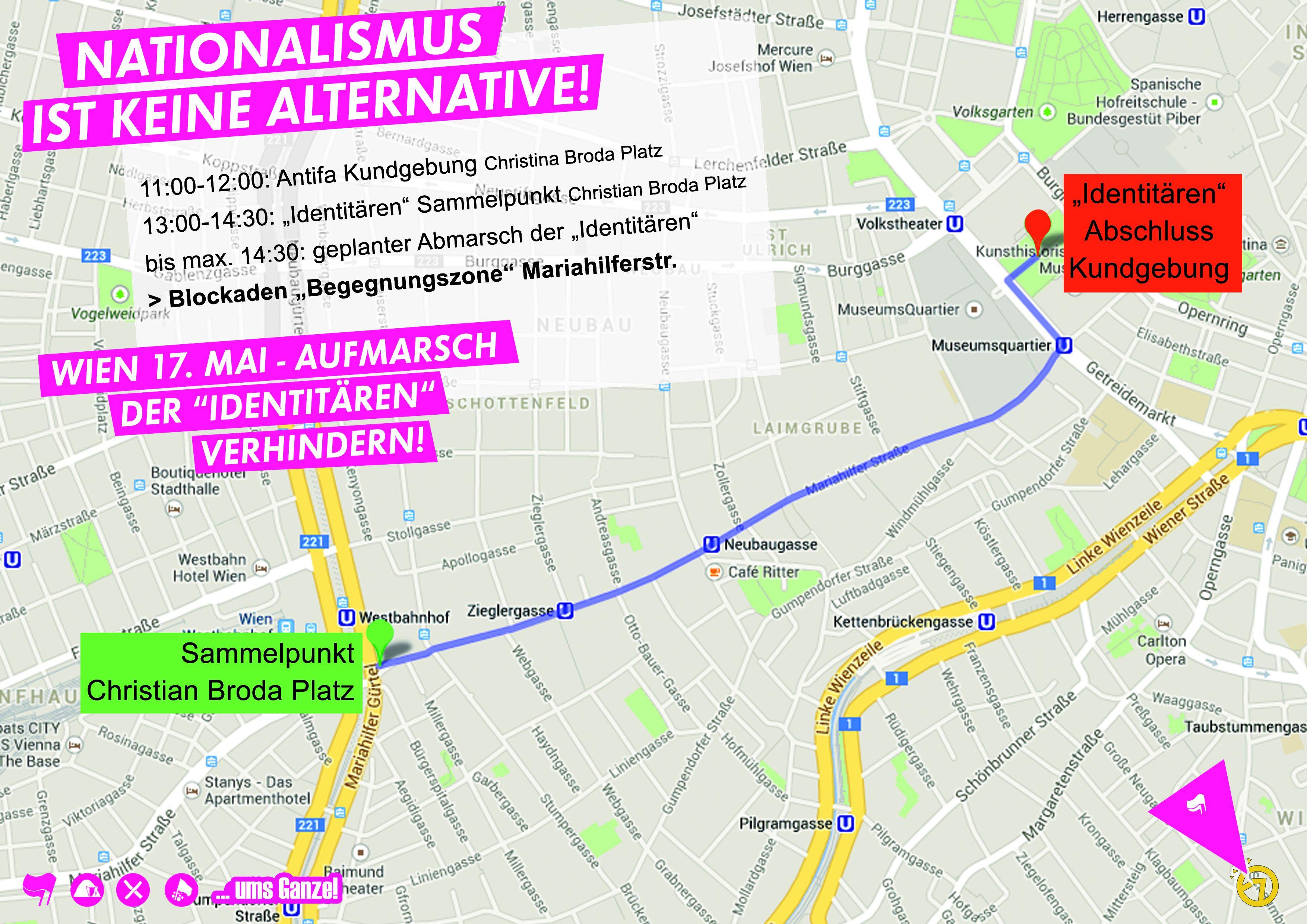 Karte MAH� Identitären-Demo